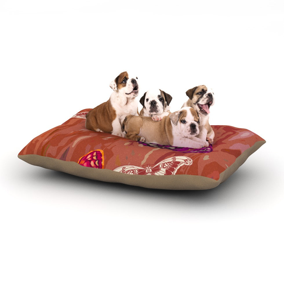 "Vikki Salmela ""Butterflies Party"" Dog Bed - KESS InHouse  - 1"