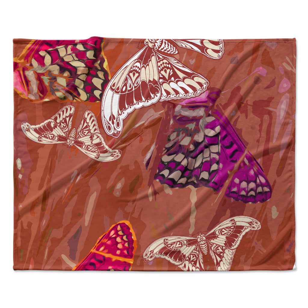"Vikki Salmela ""Butterflies Party"" Fleece Throw Blanket"