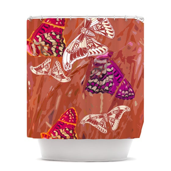 "Vikki Salmela ""Butterflies Party"" Shower Curtain - KESS InHouse"
