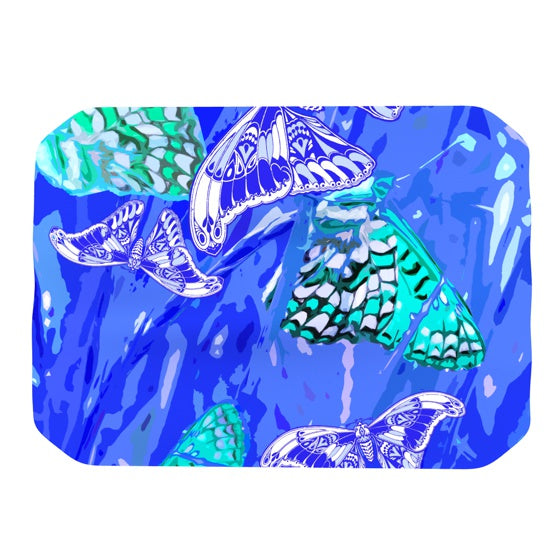 "Vikki Salmela ""Butterflies Party Blues"" Place Mat - KESS InHouse"