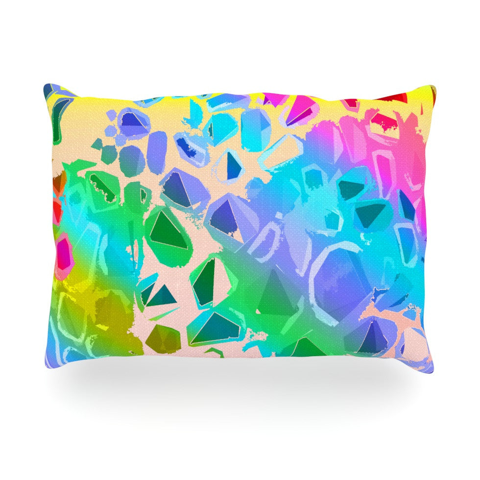 "Vikki Salmela ""Jungle Talk"" Oblong Pillow - KESS InHouse"