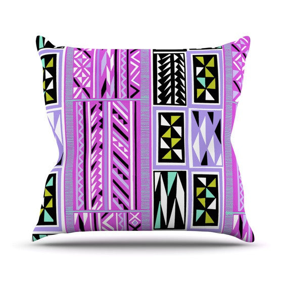"Vikki Salmela ""American Blanket Pattern II"" Outdoor Throw Pillow - KESS InHouse  - 1"