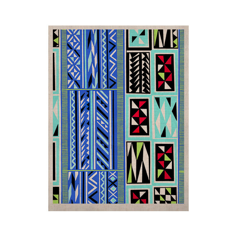 "Vikki Salmela ""American Blanket Pattern"" KESS Naturals Canvas (Frame not Included) - KESS InHouse  - 1"