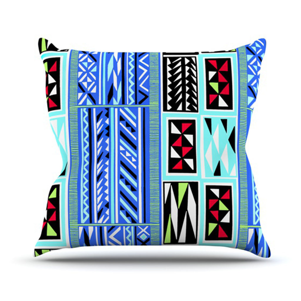 "Vikki Salmela ""American Blanket Pattern"" Throw Pillow - KESS InHouse  - 1"