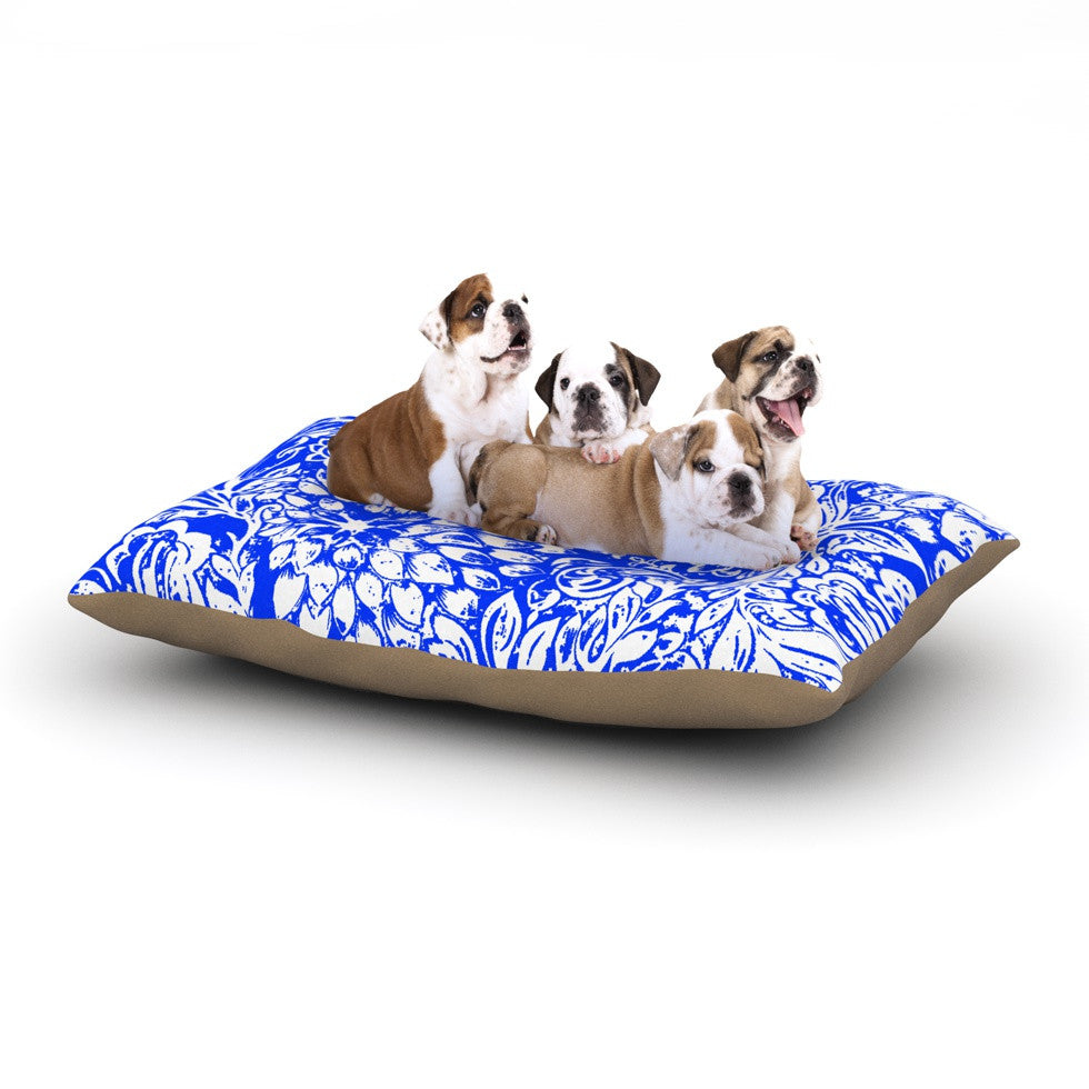 "Vikki Salmela ""Bloom Blue for You"" Dog Bed - KESS InHouse  - 1"
