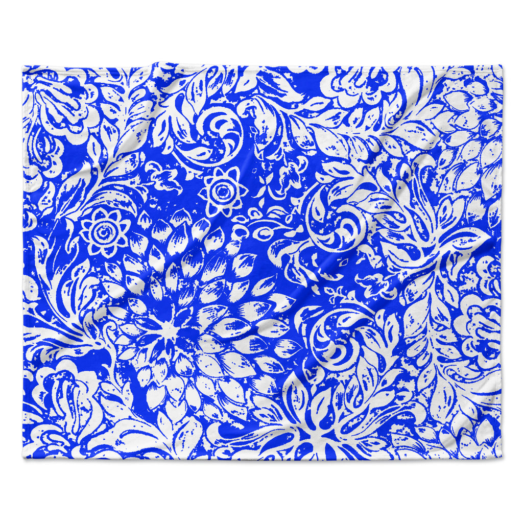 "Vikki Salmela ""Bloom Blue for You"" Fleece Throw Blanket"