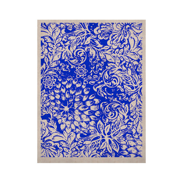 "Vikki Salmela ""Bloom Blue for You"" KESS Naturals Canvas (Frame not Included) - KESS InHouse  - 1"