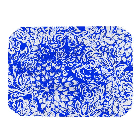 "Vikki Salmela ""Bloom Blue for You"" Place Mat - KESS InHouse"