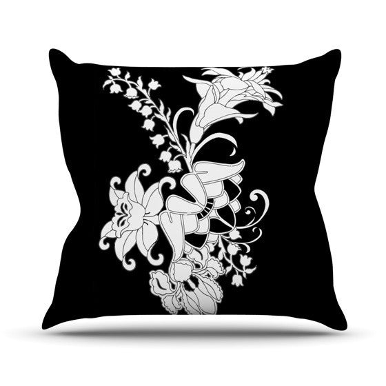 "Vikki Salmela ""My Garden"" Outdoor Throw Pillow - KESS InHouse  - 1"