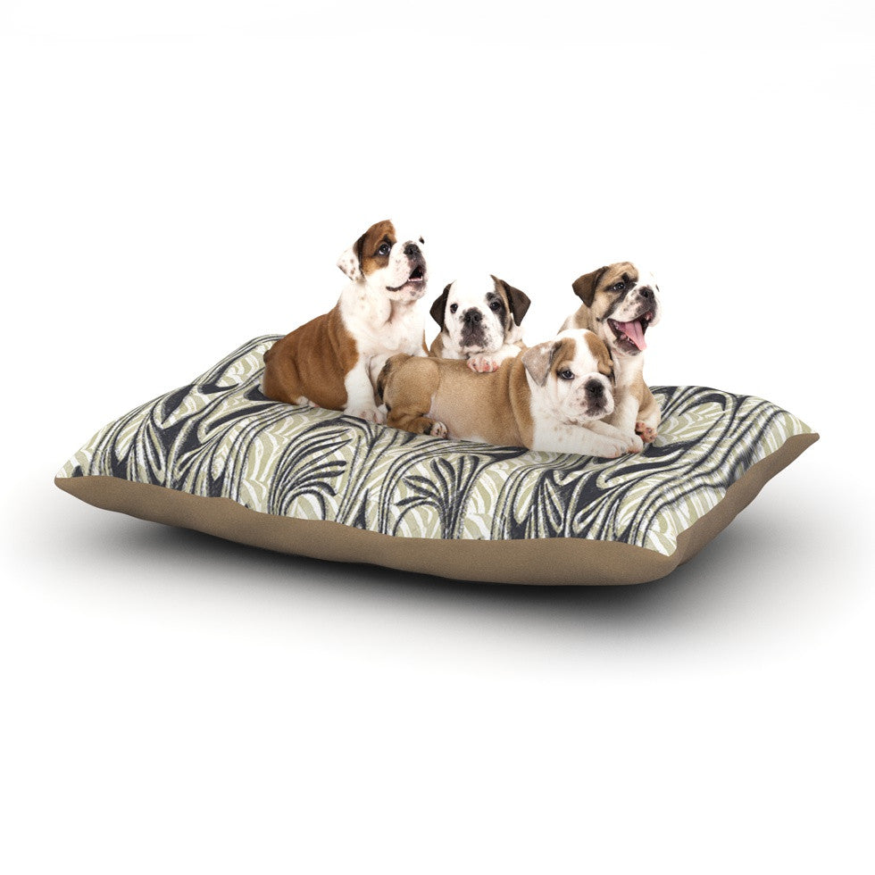 "Vikki Salmela ""The Palace"" Tan Black Dog Bed - KESS InHouse  - 1"