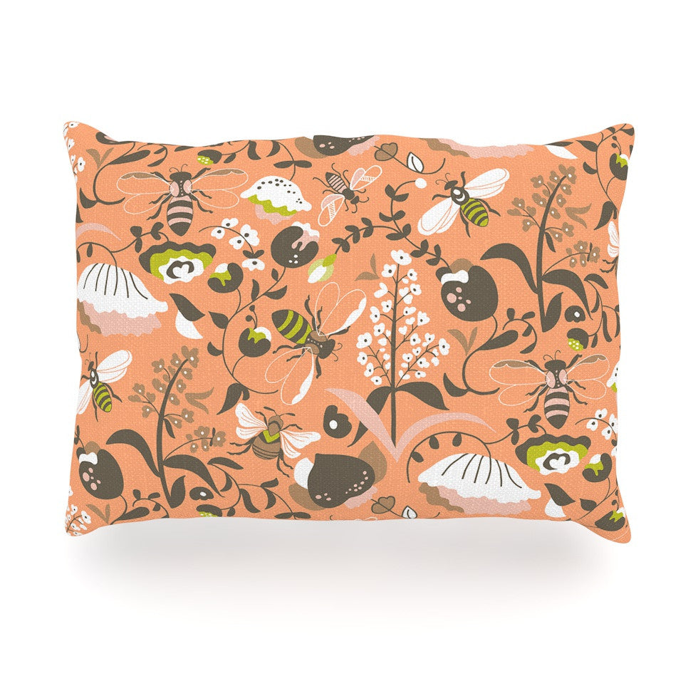 "Very Sarie ""Hope for the Flowers I"" Coral Brown Oblong Pillow - KESS InHouse"