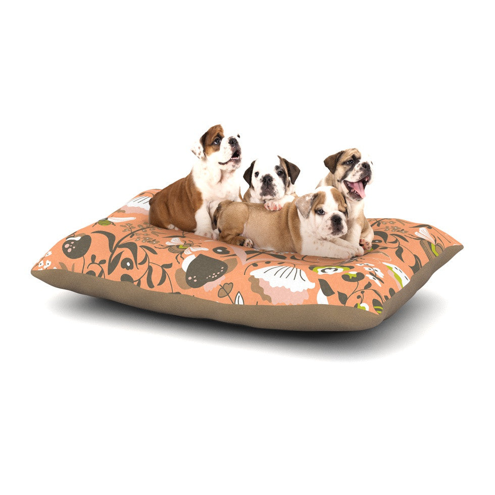 "Very Sarie ""Hope for the Flowers I"" Coral Brown Dog Bed - KESS InHouse  - 1"