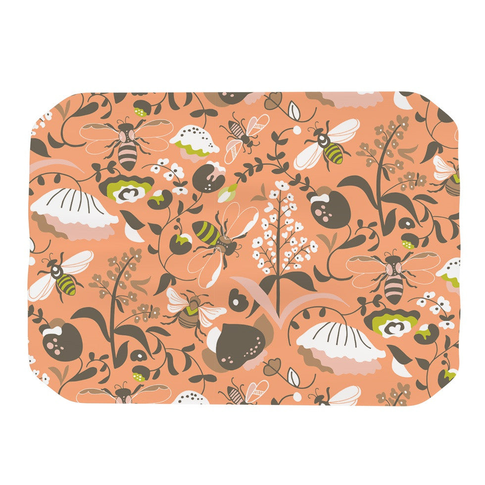 "Very Sarie ""Hope for the Flowers I"" Coral Brown Place Mat - KESS InHouse"