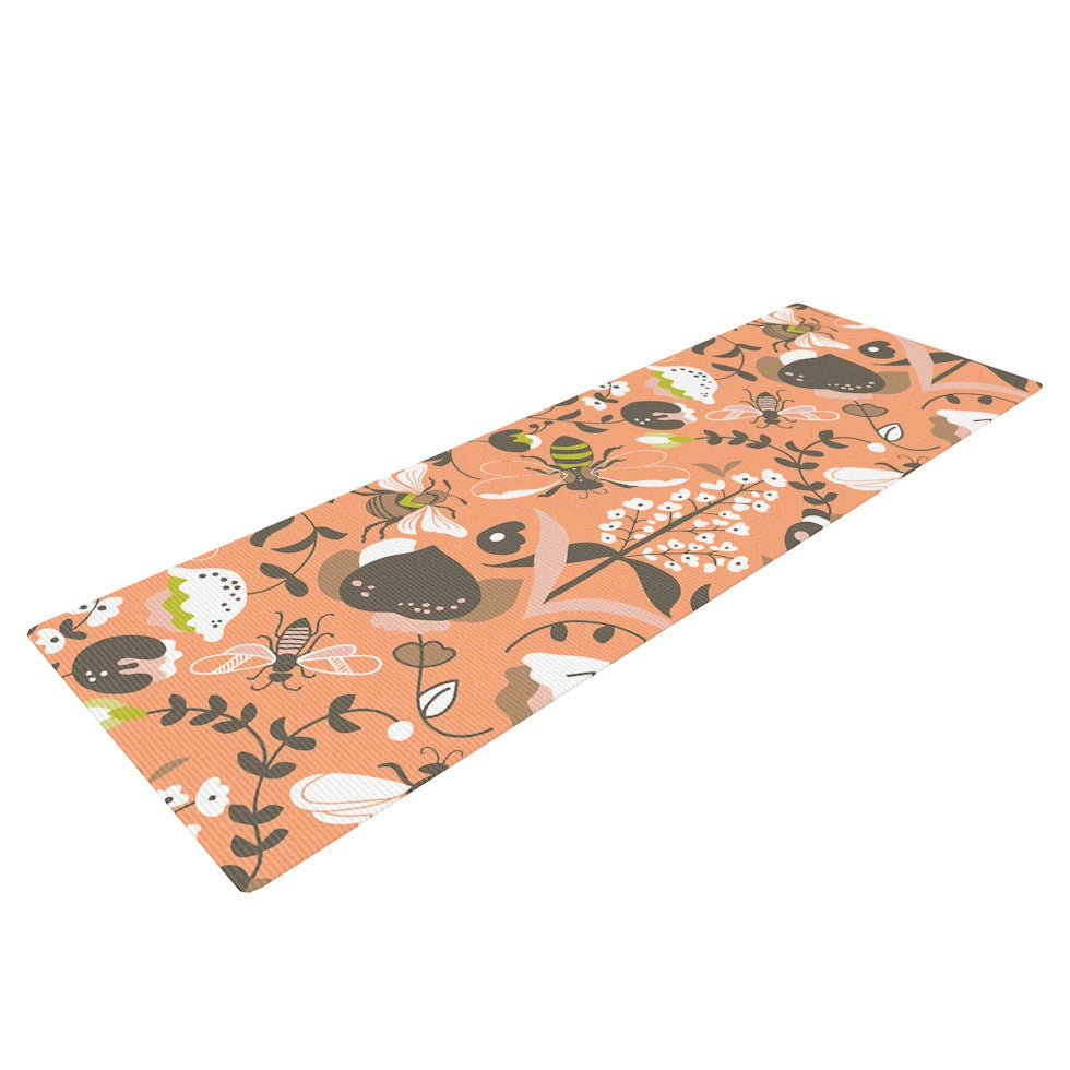 "Very Sarie ""Hope for the Flowers I"" Coral Brown Yoga Mat - KESS InHouse  - 1"