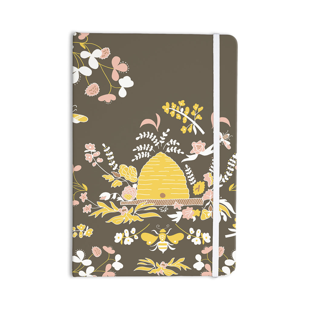 "Very Sarie ""Hope for the Flowers II"" Yellow Brown Everything Notebook - KESS InHouse  - 1"