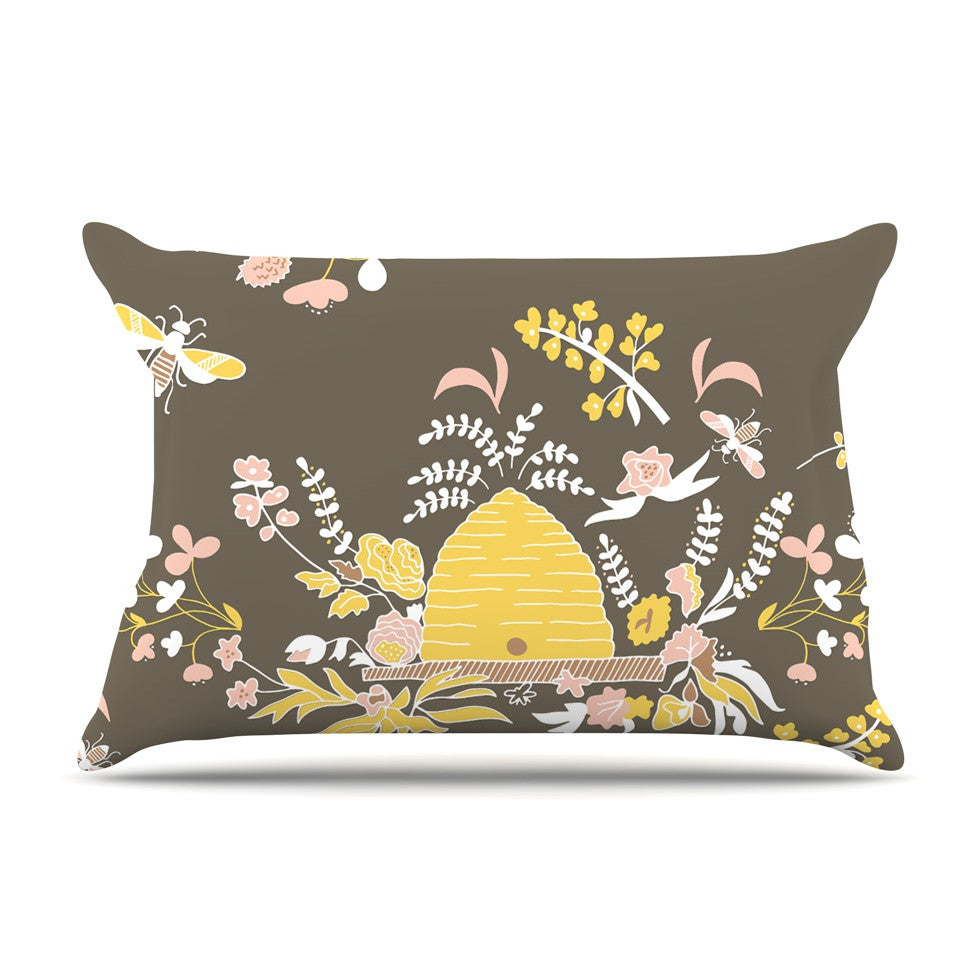 "Very Sarie ""Hope for the Flowers II"" Yellow Brown Pillow Sham - KESS InHouse"