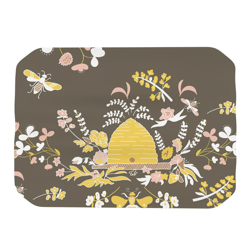 "Very Sarie ""Hope for the Flowers II"" Yellow Brown Place Mat - KESS InHouse"