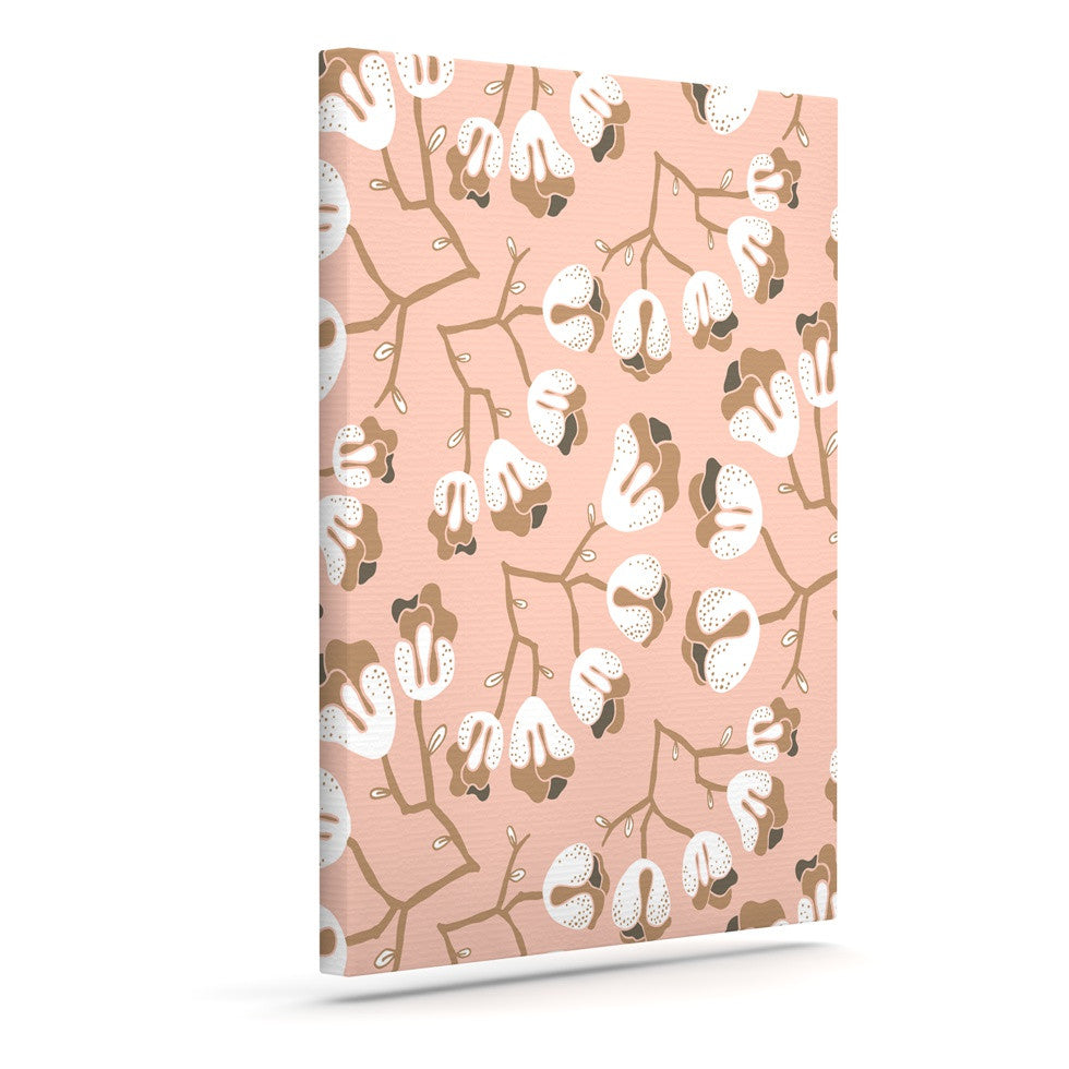 "Very Sarie ""Hope for the Flowers III"" Pink White Canvas Art - KESS InHouse  - 1"