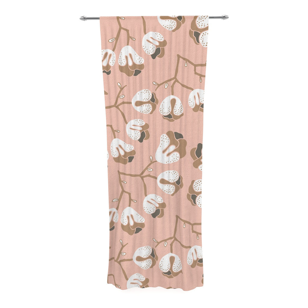 "Very Sarie ""Hope for the Flowers III"" Pink White Decorative Sheer Curtain - KESS InHouse  - 1"