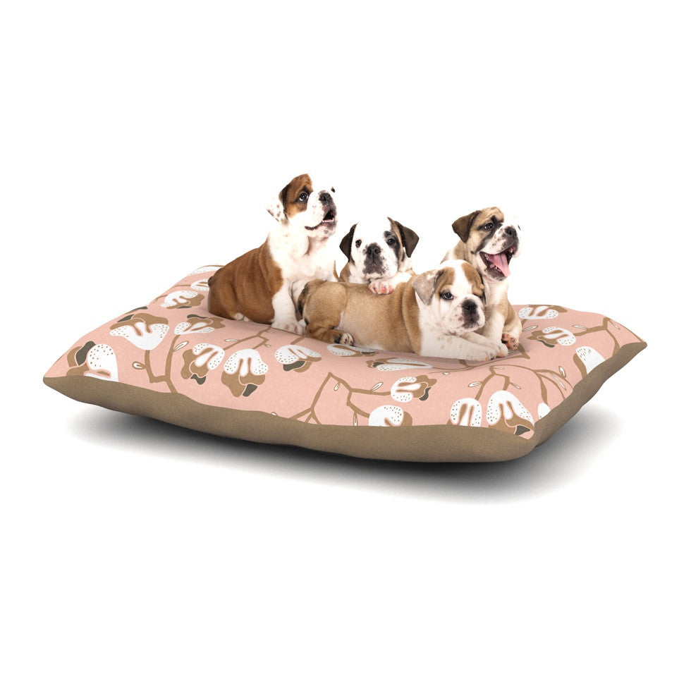 "Very Sarie ""Hope for the Flowers III"" Pink White Dog Bed - KESS InHouse  - 1"