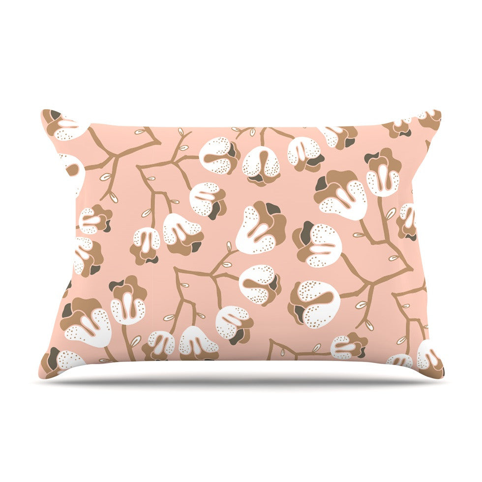 "Very Sarie ""Hope for the Flowers III"" Pink White Pillow Sham - KESS InHouse"