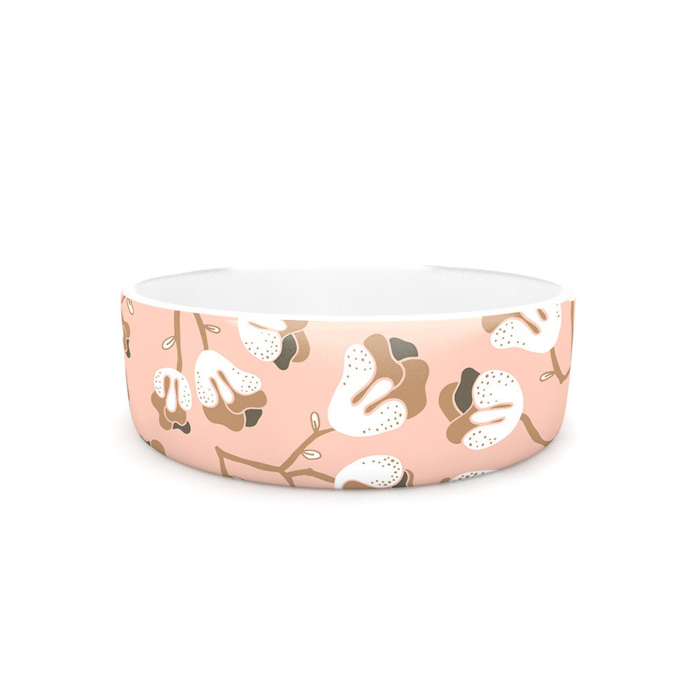 "Very Sarie ""Hope for the Flowers III"" Pink White Pet Bowl - KESS InHouse"