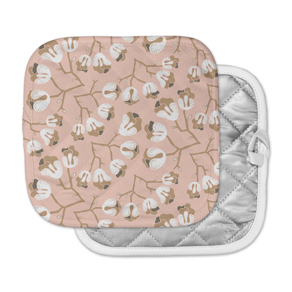 "Very Sarie ""Hope for the Flowers III"" Pink White Pot Holder"