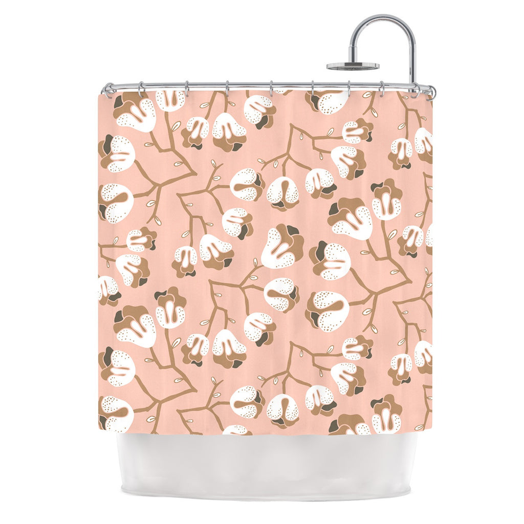 "Very Sarie ""Hope for the Flowers III"" Pink White Shower Curtain - KESS InHouse"