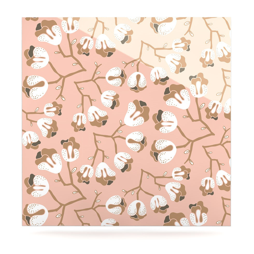 "Very Sarie ""Hope for the Flowers III"" Pink White Luxe Square Panel - KESS InHouse  - 1"