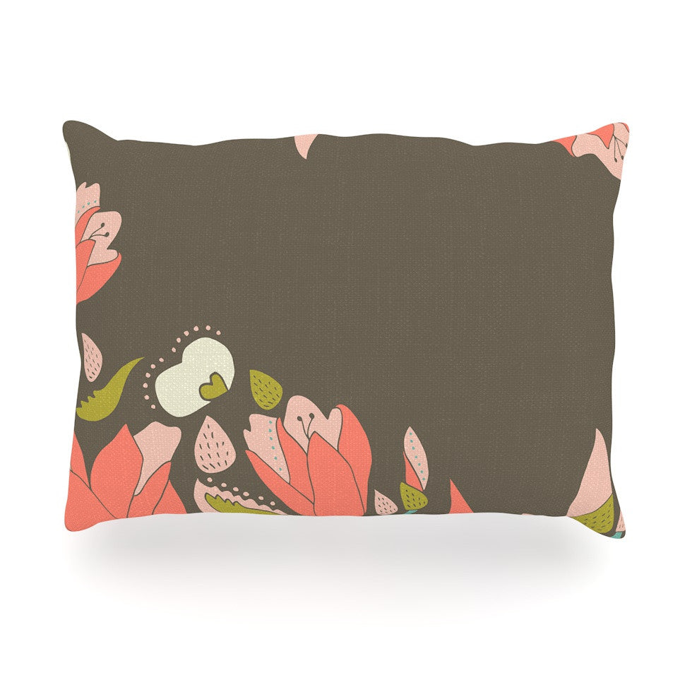"Very Sarie ""Penelope I"" Brown Coral Oblong Pillow - KESS InHouse"