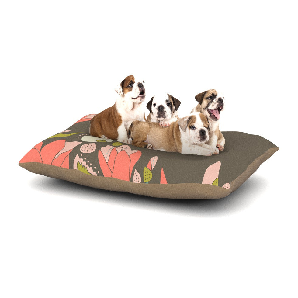 "Very Sarie ""Penelope I"" Brown Coral Dog Bed - KESS InHouse  - 1"