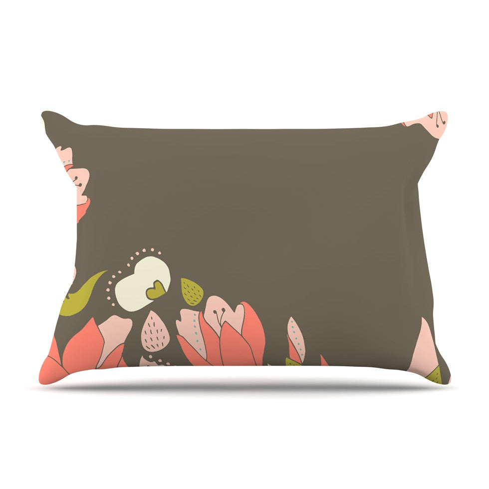 "Very Sarie ""Penelope I"" Brown Coral Pillow Sham - KESS InHouse"