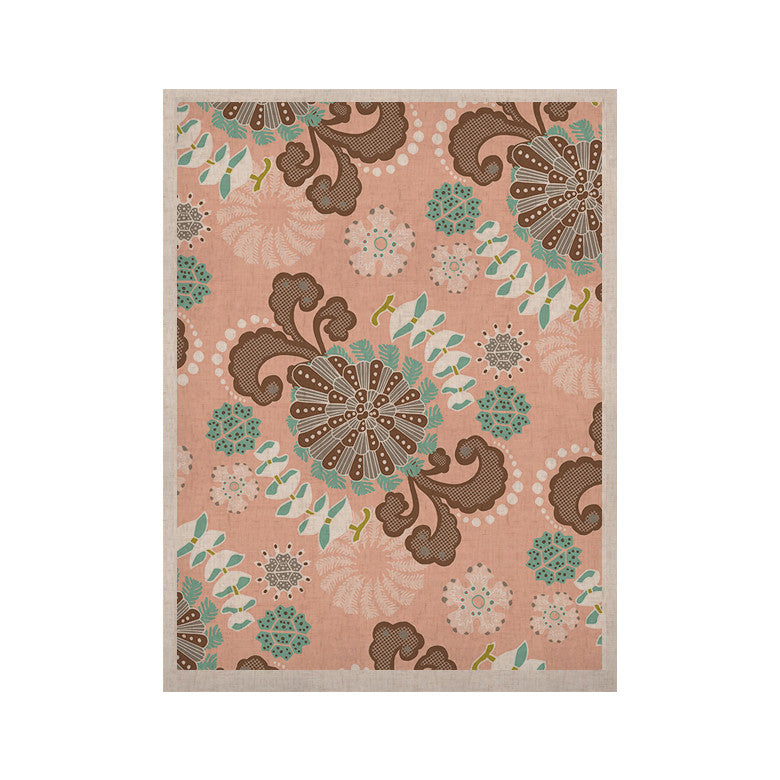 "Very Sarie ""Sea Carnival"" Pink Teal KESS Naturals Canvas (Frame not Included) - KESS InHouse  - 1"