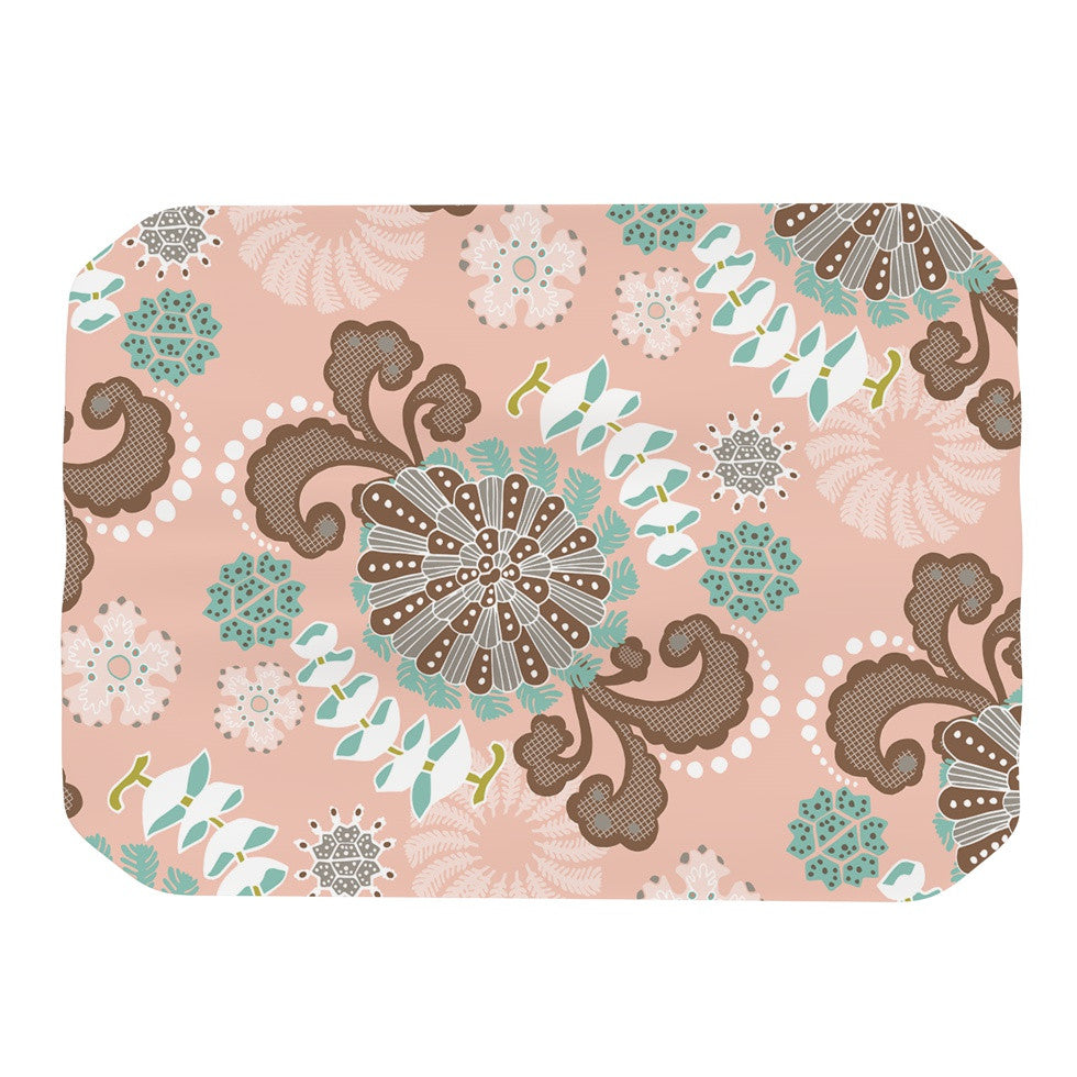 "Very Sarie ""Sea Carnival"" Pink Teal Place Mat - KESS InHouse"