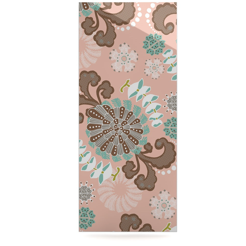 "Very Sarie ""Sea Carnival"" Pink Teal Luxe Rectangle Panel - KESS InHouse  - 1"