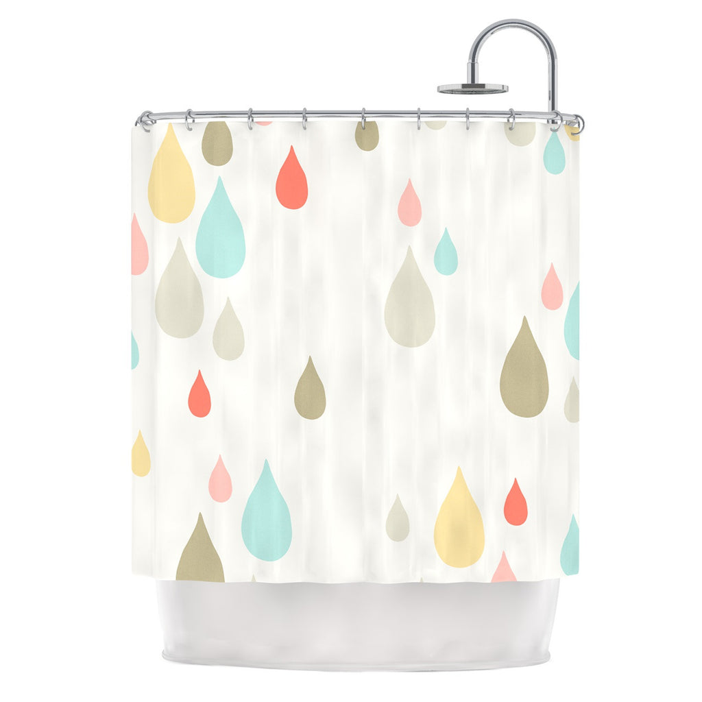 "Very Sarie ""Rainy Days"" Multicolor Rain Shower Curtain - KESS InHouse"