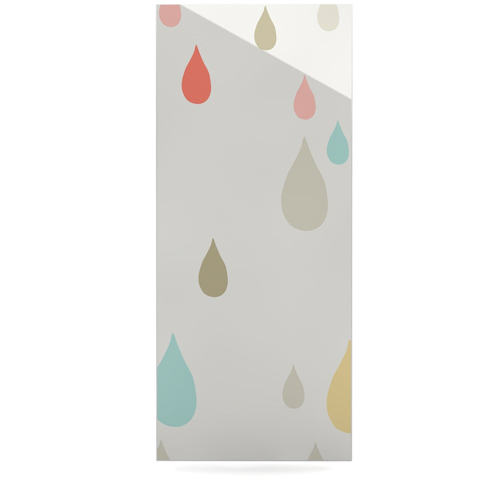 "Very Sarie ""Rainy Days"" Multicolor Rain Luxe Rectangle Panel - KESS InHouse  - 1"