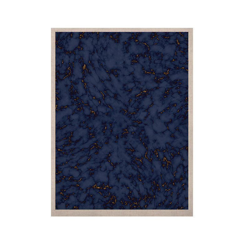 "Will Wild ""Blue & Gold Marble"" Navy Abstract KESS Naturals Canvas (Frame not Included) - KESS InHouse  - 1"