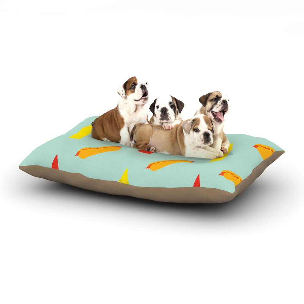 "Will Wild ""Hot Dog Pattern"" Food Dog Bed - KESS InHouse  - 1"