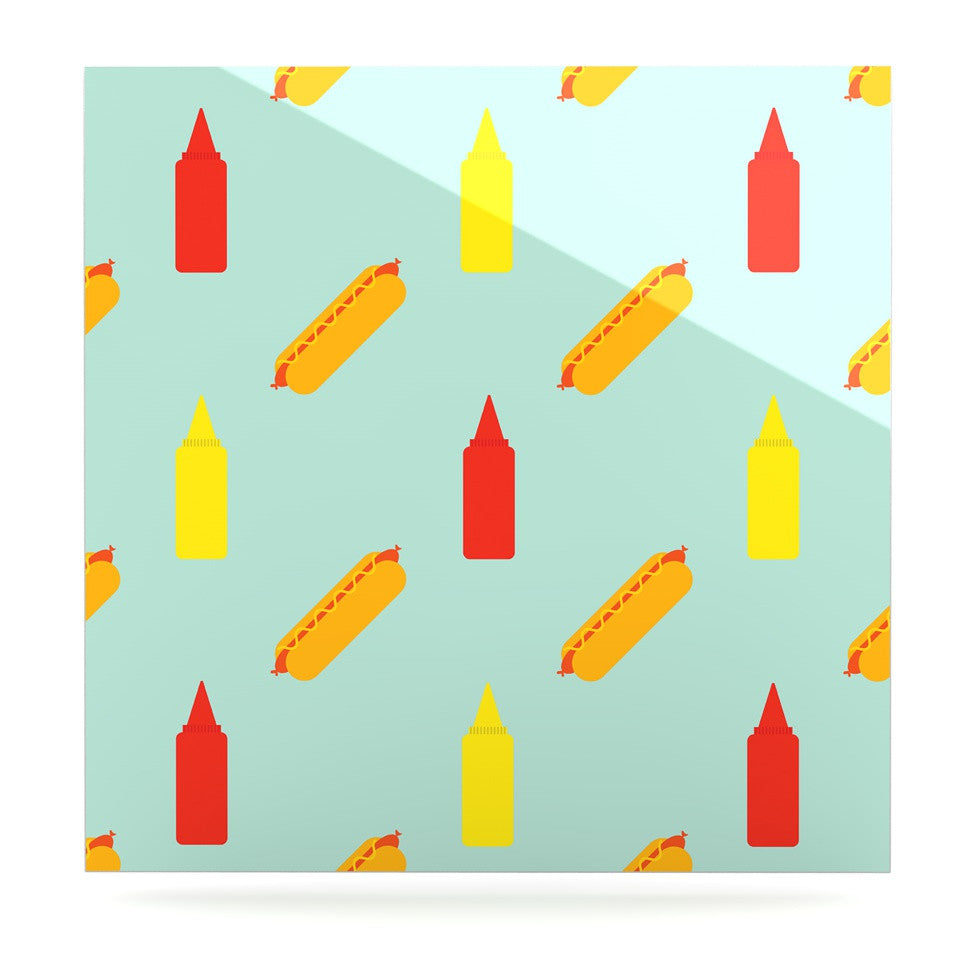 "Will Wild ""Hot Dog Pattern"" Food Luxe Square Panel - KESS InHouse  - 1"