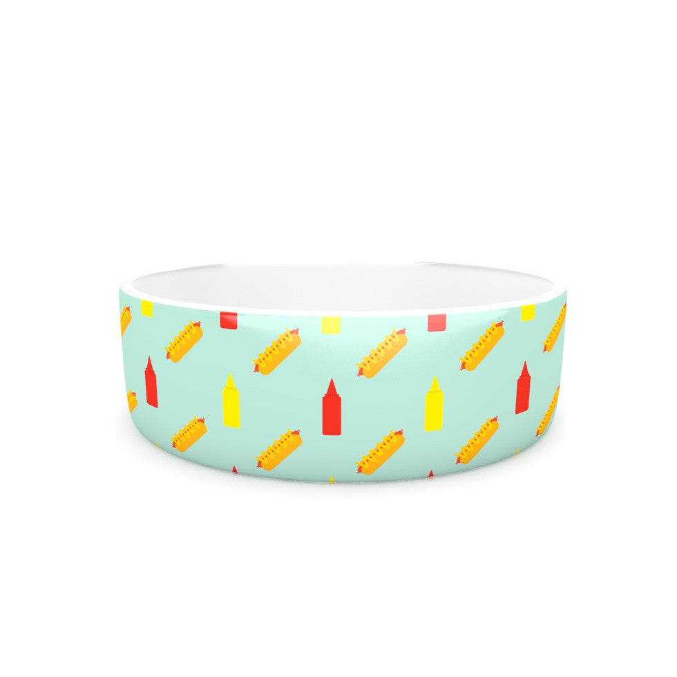 "Will Wild ""Hot Dog Pattern II"" Food Pet Bowl - KESS InHouse"