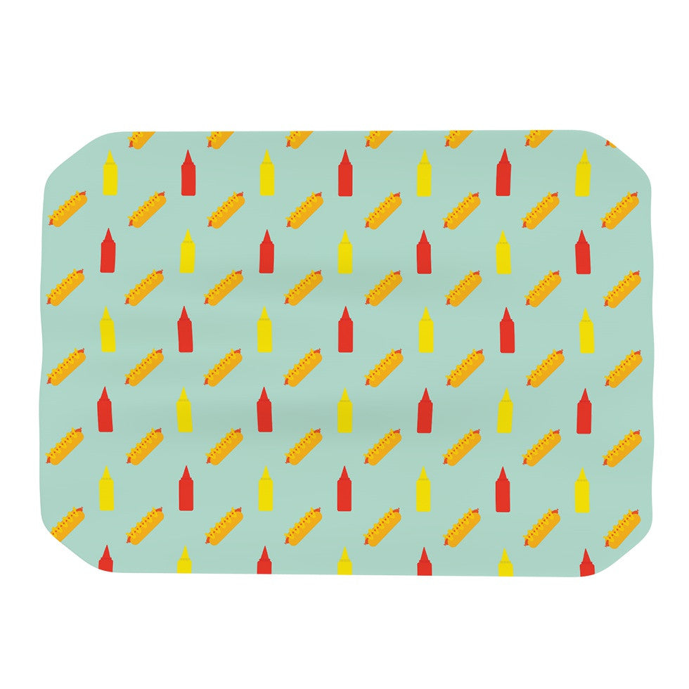 "Will Wild ""Hot Dog Pattern II"" Food Place Mat - KESS InHouse"
