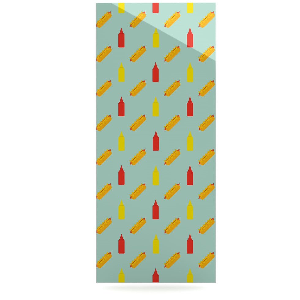 "Will Wild ""Hot Dog Pattern II"" Food Luxe Rectangle Panel - KESS InHouse  - 1"
