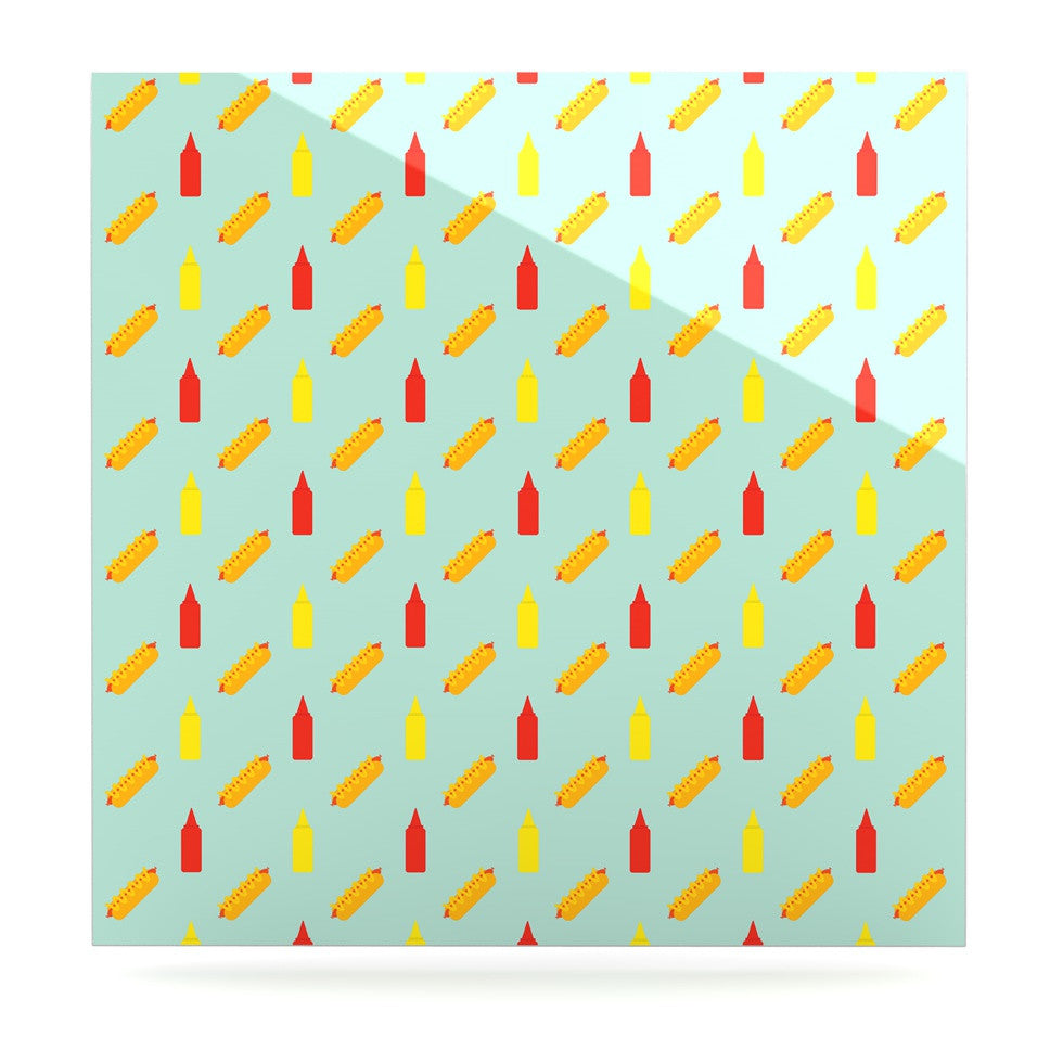 "Will Wild ""Hot Dog Pattern II"" Food Luxe Square Panel - KESS InHouse  - 1"