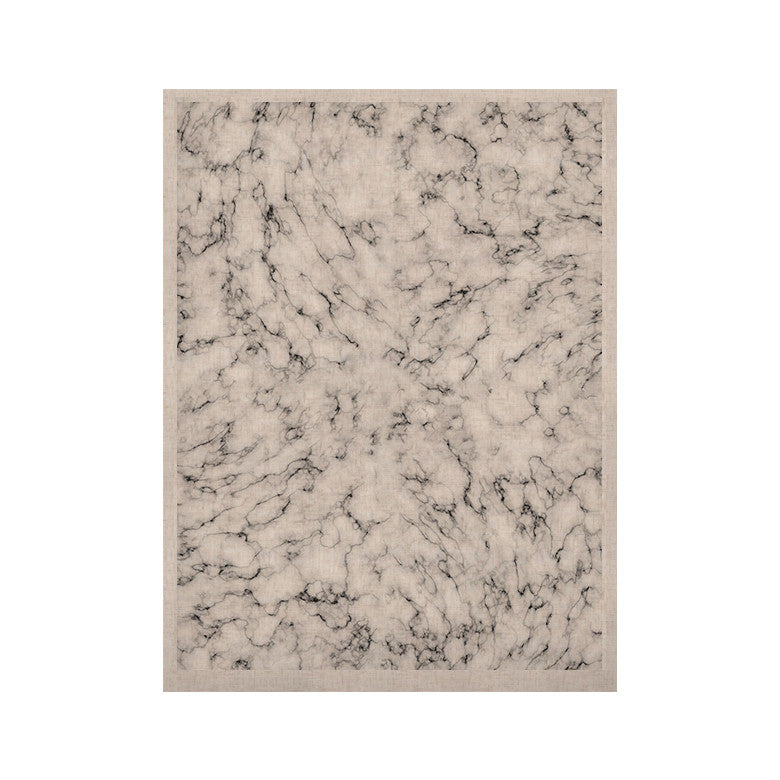 "Will Wild ""Marble"" White Gray KESS Naturals Canvas (Frame not Included) - KESS InHouse  - 1"