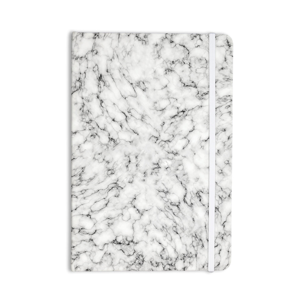 "Will Wild ""Marble"" White Gray Everything Notebook - KESS InHouse"