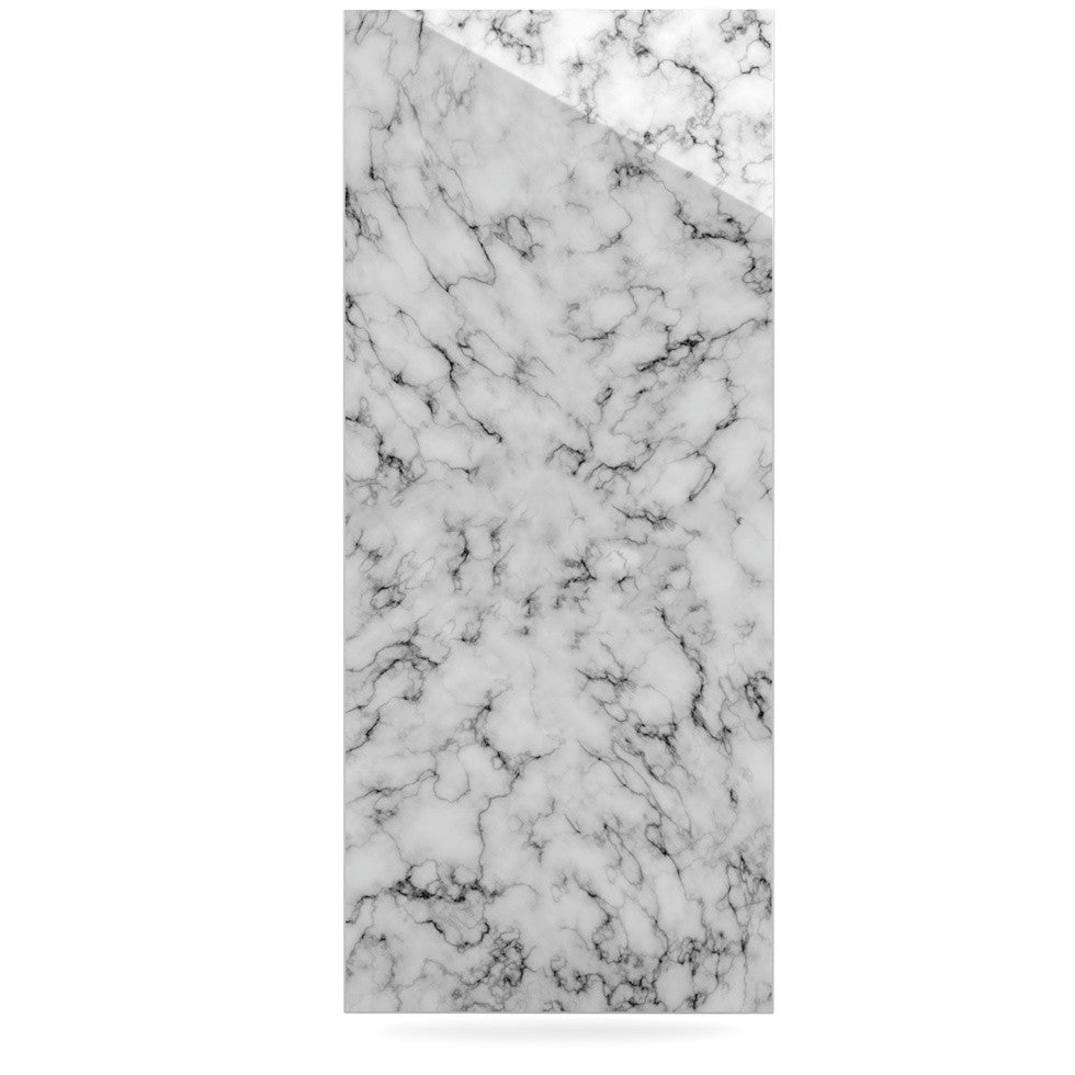 "Will Wild ""Marble"" White Gray Luxe Rectangle Panel - KESS InHouse  - 1"