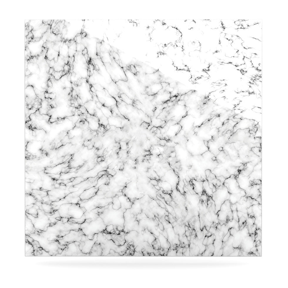"Will Wild ""Marble"" White Gray Luxe Square Panel - KESS InHouse  - 1"