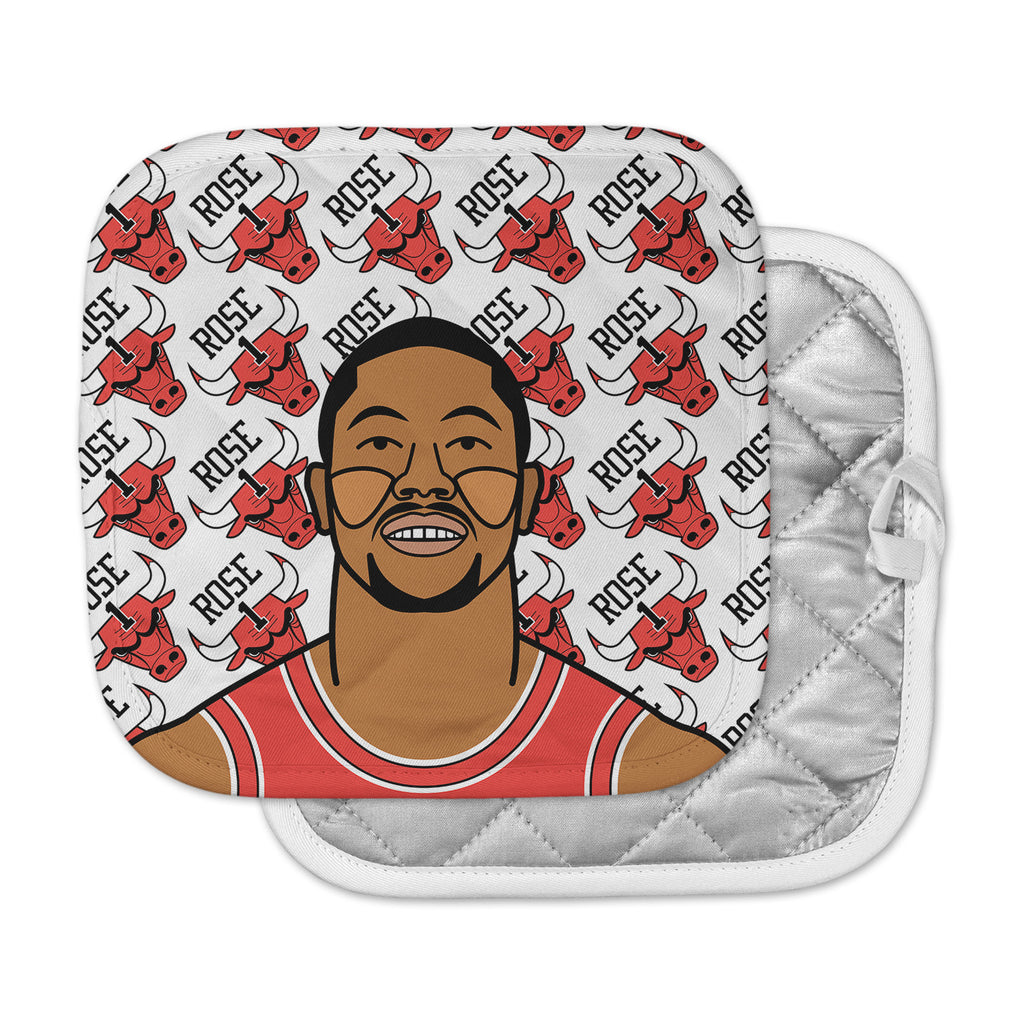 "Will Wild ""Derrick Rose"" Basketball  Pot Holder"