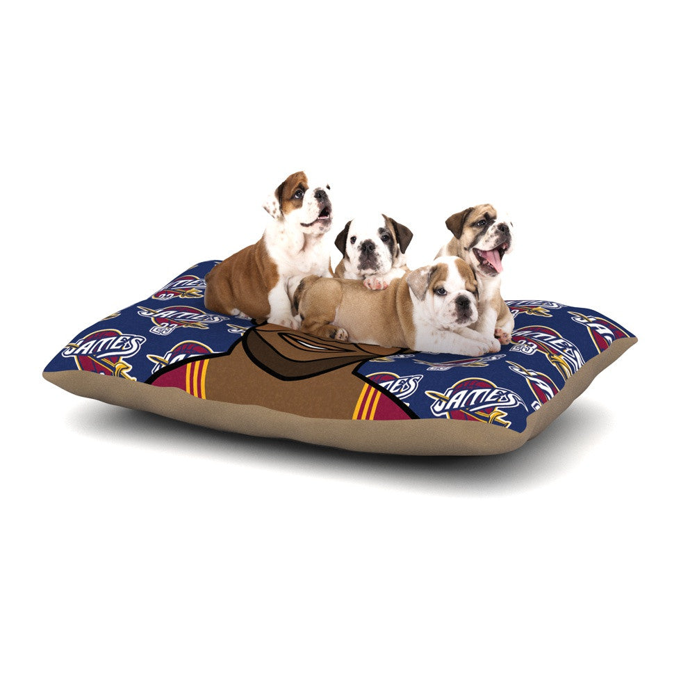 Lebron James Dog Bed by Will Wild | KESS InHouse
